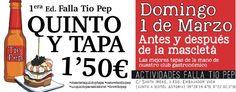 Quinto y tapa para la primera mascletà de 2015 - http://www.valenciablog.com/quinto-y-tapa-para-la-primera-mascleta-de-2015/