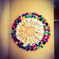 Paint brush wreath art by TheWreathGirl on Etsy