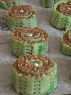 M'kiadettes - Algerian almond pastry swirls.