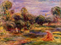 Cagnes Landscape, (1907-1908). Private Collection - Pierre-Auguste Renoir