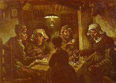 Vincent Van Gogh  Los comedores de papas  1885  Óleo sobre tela; 82 x 114 cm