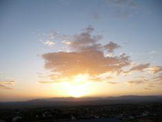La puesta de sol de Ayer.