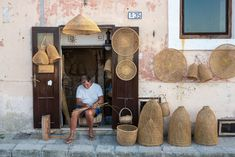 A craftsmen fashions traditional fishing tools in the old town of Gallipoli, on the peninsula's west ... Fishing Tools, Southern Italy, Beach Bars, Turquoise Water, Sandy Beaches, Old Town, Craftsman, Old Things, Traditional