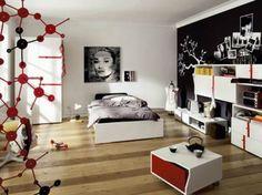 rote-Akzente-Jugendliche-Schlafzimmer