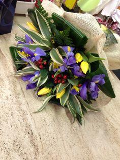 Bouquet di tulipani e Iris