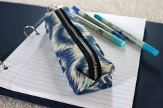 "DIY Back to School Pencil Case from the RenegadeSeamstress.  Although to my eyes, this looks like a toothbrush pouch -- great combo ""bon voyage"" gift idea with shoe bags."