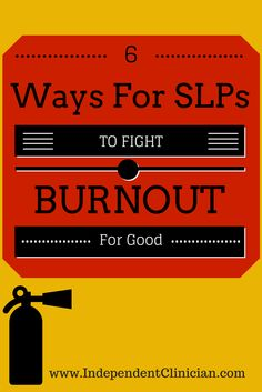 Speech therapy providers tend to LOVE their jobs - but burnout can happen to the best of us. Get tips to fight burnout here: https://www.independentclinician.com/blog/6-ways-to-beat-speech-pathology-burnout-for-good