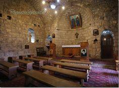 LEBANON, Church of Hermitage where st, Charbel prayed