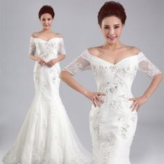 Stunning New Arrival V-Neck Sleeve Chapel Train Satin LaceApplique Sexy Backless Mermaid Wedding Dress   http://www.e1weddingdress.com/pd--p-563656-a-0-ex-0-pn-Lace-Wedding-Dress-2014-New-Arrival-V-Neck-Sleeve-Chapel-Train-Satin-LaceApplique-Sexy-Backless-Mermaid-Wedding-Dress-Discount-Online-S.html
