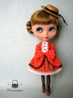 i love this   beautiful outfit for blythe by pommecopine  etsy $16.50