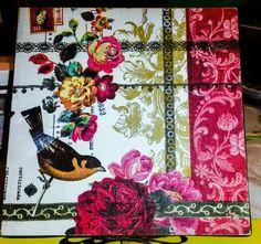 Caixa bird and flowers #detalhesperolas