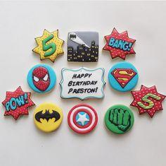 """Jessica Edwards on Instagram: """"And cookies! #customcookies #decoratedcookies #superheroes #sugarcookies #yxe #saskatoon"""""""