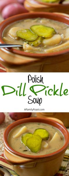 Polish Dill Pickle Soup - A traditional Polish soup that is addictively delicious! Simple ingredients and simple to prepare.