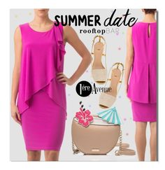 """Summer Date: Rooftop Bar"" by premiereavenue-boutique ❤ liked on Polyvore featuring Joseph Ribkoff, Kate Spade, Tory Burch and country"
