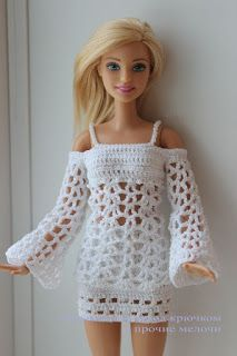 Barbie fashion clothes crochet pattern in stylish strapless dress with good coverage and matching purse and hat !Barbie fashion clothes Más CLICK Visit link above for more infoIf you happen to love dolls as much as I do, you're going to want to dress t Barbie Clothes Patterns, Crochet Barbie Clothes, Doll Clothes Barbie, Barbie Dress, Clothing Patterns, Doll Patterns, Crochet Patterns, Doll Dresses, Barbies Dolls