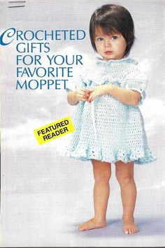 Crochet Pattern Ruffled Baby-Toddler-Child Dress sz 6 mths, 1,2 & 3yrs PDF, 3.99$ pattern