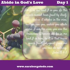 Abide in God's Love Day 1