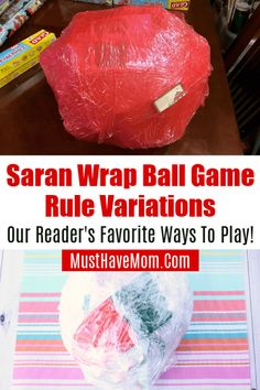Saran wrap ball game rules and variations! Different ways to play this favorite Christmas game.