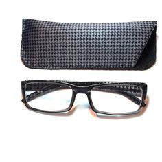2.50 reading glasses gray houndstooth with case 2.50 reading glasses gray houndstooth with case Accessories Glasses