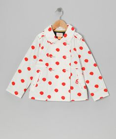 $25. Take a look at this Porcelain Polka Dot Galley Rain Coat - Toddler & Girls by Eddie & Stine by Eddie Bauer on #zulily today!