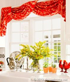 Kitchen curtain - bright!