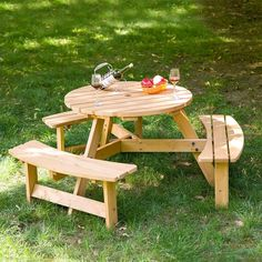 Analine Outdoor Wood Picnic Table