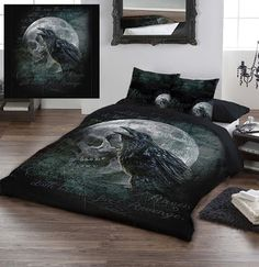 """Goth Shopaholic: Alchemy Gothic's Hauntingly Beautiful Bedroom Sets - """"Raven's Curse"""""""