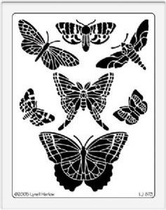 Dreamweaver Stencil - LJ873 - Butterflies/Moths    WANT!!