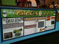 The graphics we created for The Chicken Or The Egg counter survived Hurricane Sandy!  #coastalsign #thechickenortheegg #chegg #lbi #hurricanesandy