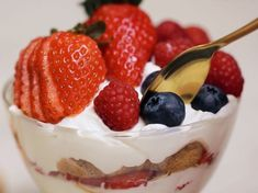 Le dessert fait-maison: la verrine tiramisu aux fruits rouges