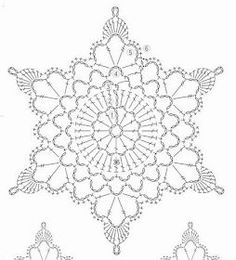 Crochet White Snowflake Tree Ornaments Christmas Snowflakes Set Of 6 Ornaments Hand Crochet Snowflake Tree Decoration Winter Wedding Decor Crochet Snowflake Pattern, Crochet Stars, Crochet Motifs, Crochet Snowflakes, Crochet Diagram, Doily Patterns, Thread Crochet, Crochet Doilies, Crochet Flowers