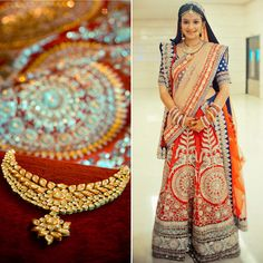 beautiful wedding lengha by Sabyasachi.  with uncut diamond jewelry Real Brides Real Style