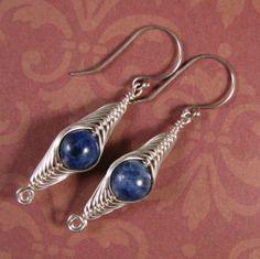 Sterling Silver Sodalite Herringbone Weave Wire by WireYourWorld, $24.99