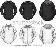 plain hoodies for men back and front