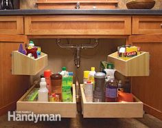 Kitchen Storage: Cabinet Rollouts - Article: The Family Handyman