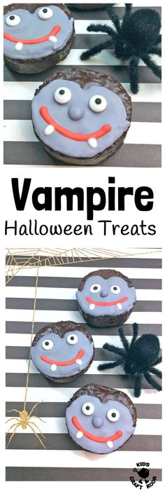 How to make these vampire Halloween treats. EASY VAMPIRE HALLOWEEN TREATS - a simple Halloween recipe kids will love to make. Fun Halloween food for your little monsters to get their fangs into! A Halloween craft you can eat! Halloween Snacks, Happy Halloween, Easy Halloween Crafts, Halloween Cakes, Scary Halloween, Halloween Ideas, Halloween Party, Halloween Stuff, Preschool Halloween