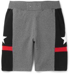 GIVENCHY Panelled Cotton-Jersey Shorts. #givenchy #cloth #shorts