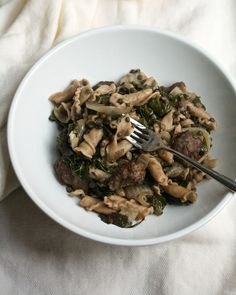 Pasta with Kale, Lentils & Sausage | Big Girls Small Kitchen