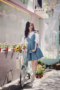 35 Trendy fashion korean kpop ulzzang chic dress - New Site Fashion Mode, Kpop Fashion, Cute Fashion, Daily Fashion, Trendy Fashion, Girl Fashion, Fashion Dresses, Fashion Looks, Fashion Design