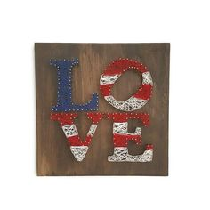 String Art 4th of July String Art Patriotic by CordialAndCozy