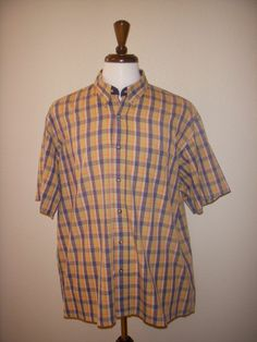 Monsieur Givenchy Short-Sleeved Button-down Plaid XL