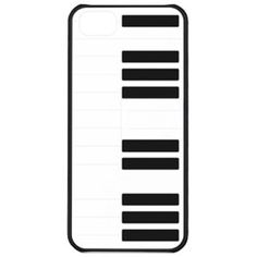 Macally JAZZ5 Piano Case with Stand for iPhone 5 - 1 Pack  - Retail Packaging - Black/White