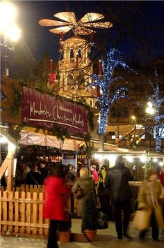 Christmas Market in Manchester, England
