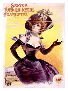 ANTIQUE posters and advertising of cigarettes