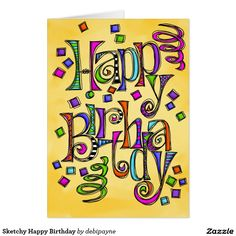 Customizable Card made by Zazzle Greeting Cards. Personalize it with photos & text or shop existing designs! Happy Birthday Teacher, Happy Birthday Cards, Word Doodles, Create Your Own Card, Picture Cards, Custom Greeting Cards, Paper Texture, Smudging, Rocks
