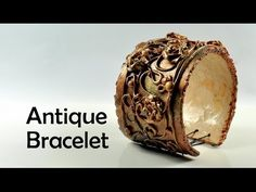 video: Antique / vintage bracelet with flowers - #Polymer #Clay #Tutorials