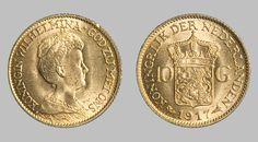 Gold Netherlands Pre-1933 10 Gulden (Queen) Gold Coin