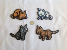 This listing includes 4 cats of each color) from Minish Cap, the Zelda classic on GameBoy Advance. All sprites are constructed out of Perler beads. Perler Bead Designs, Hama Beads Design, Diy Perler Beads, Perler Bead Art, Pearler Beads, Pixel Beads, Fuse Beads, Pearler Bead Patterns, Perler Patterns