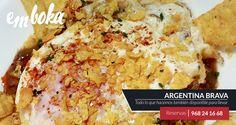 """¿Te apetece probar algo diferente? Te presentamos nuestra tapa """"Argentina Brava"""" inspirada en la Empanadilla Criolla, pero además con un Huevo Frito y Nachos Picantes. Ideal para compartir. Reservas: 968241668 Estamos en La Flota, Murcia"""