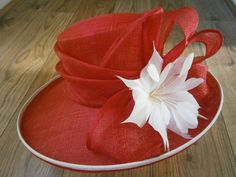 Jacques Vert Hat Red & White Wedding Church Mother of the Bride Groom Hat  £49.00 (BIN) FPP